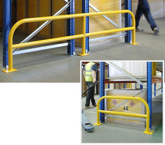 Tubular Steel Racking Protection Barrier
